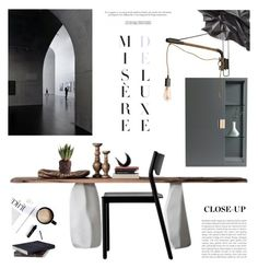 """""""Working Alone"""" by mirela-k ❤ liked on Polyvore featuring interior, interiors, interior design, home, home decor, interior decorating, Cattelan Italia, Resident, Asplund and Dot & Bo"""
