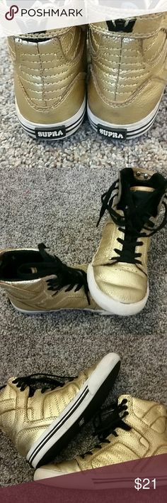 Supra gold hightops Unisex gold hightops supra lace up supra Shoes Sneakers