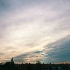 Greyish sunset