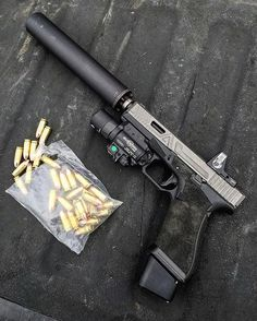 Pew pew call that Glock pewdiepie🔫 Military Weapons, Weapons Guns, Guns And Ammo, Assault Weapon, Assault Rifle, Agency Arms, Custom Guns, Fire Powers, Cool Guns