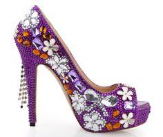 Charming Shinning Beading Rhinestone Bride Shoes