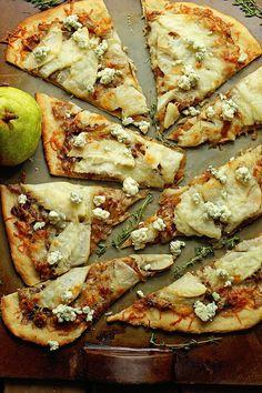 Caramelized Onion and Pear Flatbread | Grandbaby Cakes