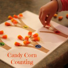 Use candy corn to practice number recognition, counting, and math facts