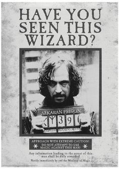 Harry Potter Sirius Wanted Movie Poster Bedroom Home Decoration High Quality Photo Poster Prints Size 50*75 Cm Wall Sticker For Gift 20 X 30 Inch