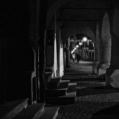 Night in Bardejov Black White Photos, Black And White, Free Black, Stairs, Urban, City, Night, Stairway, Black N White