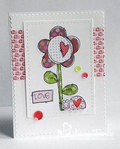 Nancy Thomas POD Heart Flower Lovebugs