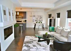 Rectangular Living Room Idea