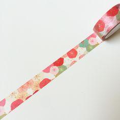 Masking Tape - Washi Tape Sample Blütenblätter bunt - ein Designerstück von LauraAmie bei DaWanda