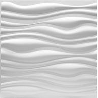 Pvc Wave Board Textured 3d Wall Panels White 19 7 X 19 7 12 Pack Walmart Com Textured Wall Panels 3d Wall Panels 3d Wall Tiles