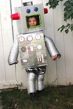 tutorial for robot costume, includes printable gauges. use flashing bike lights!