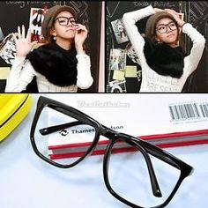 847c269536 Unisex Men Lady Geek Eye Glasses Square Retro Big Frame Eyewear 3Types D0X8