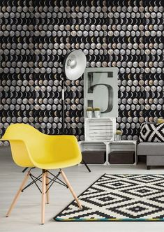 Moon Phases Wallpaper by MINDTHEGAP – Lime Lace