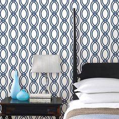 Brewster Symetrie. Infinity Geometric Stripe Wallpaper