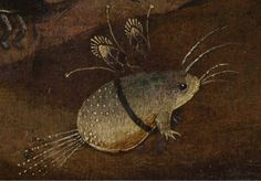 So cute. Detail of the Hermits Triptych. Hieronymus Bosch. Venice, Palazzo Grimani