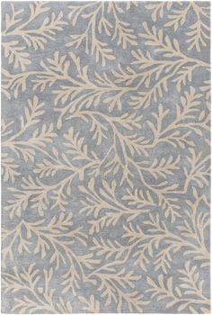 enjoy this charming plush sea tangle area rug in shades of denim blue and cream