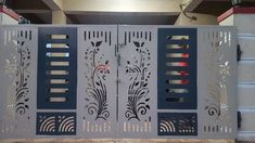 The gate design is a very important moment in the process of designing the fence of a backyard plot or a private house. After all, the gate. Home Gate Design, Gate Wall Design, Grill Gate Design, House Main Gates Design, Steel Gate Design, Front Gate Design, Main Door Design, House Front Design, Iron Main Gate Design