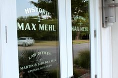 Max Mehl Building Fort Worth TXBranding, Design, Sign Painting, Hand Lettering, Pinstriping, Gold Leafing: North Texas and Southern Oklahoma