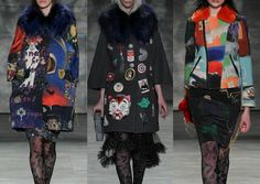 LIBERTINE l Cosmic Background Pattern – Random Motif Patches – Bold Brush Stokes – Andy Warhol References – Photographic Collages NEW YORK Fashion Week