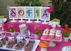 Wonderland/ Mad Tea party Birthday Party Ideas | Photo 1 of 14 | Catch My Party