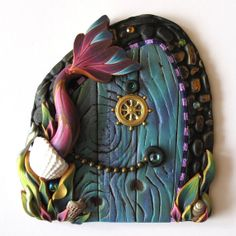 Mermaid Tale Fairy Door Pixie Portal in Orchid Pink on Etsy, $25.00