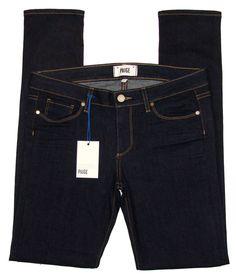 NEW Paige Denim Jeans Womens Skyline Denim Peg Skinny Leg Bardot Blue Sz 29 $158 #PaigeDenim #SlimSkinny