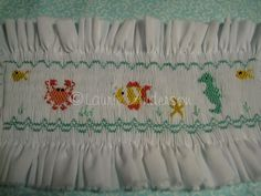 free smocking plates | completed my insert by embellishing with some seaweed!