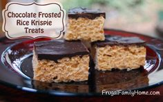 Chocolate Covered Peanut Butter Rice Krispies Treats