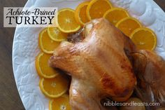An amazing Achitoe-Brined Turkey with Kikkoman Naturally Brewed Soy Sauce from Nibbles & Feasts!