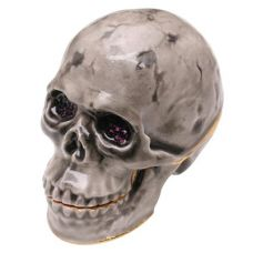 Truly Twisted: Jeweled Skull Box with Swaroski Crystals $44.00