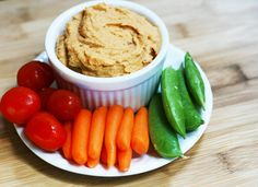 Sun-dried tomato and chickpea dip recipe from Cheap Recipe Blog - Takes about 2 minutes to make!
