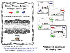 Rock, Paper, Scissors: Antonyms Game!