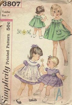 1950s Simplicity Pinafore pattern. For Violet, ribbon bow at empire waist for pre-blueberry moment