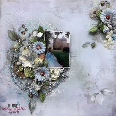 Step-by-Step Tutorial Mixed Media Layout ''Remember Today'' for 49 and Market Scrapbook Blog, Scrapbook Pages, Scrapbooking Ideas, Scrapbook Layouts, Love Your Smile, Paper Snowflakes, Wedding Scrapbook, Layout Inspiration, Christmas Wreaths
