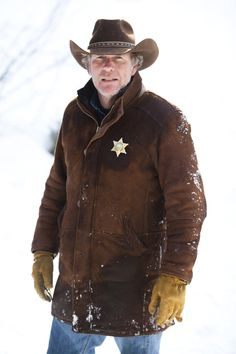Sheriff Walt Longmire......This show takes me back to when men were men. Guys, watch it. It's well written and very well acted.