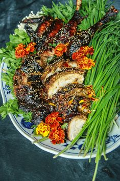 Asian Laquered Turkey from HeatherChristo.com Gluten Free Thanksgiving, Thanksgiving Recipes, Carving A Turkey, Ginger Chutney, Asian Recipes, Healthy Recipes, Duck Sauce, Chicken Feed, Toasted Sesame Seeds
