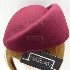 VINTAGE x ELEGANT Wool Felt Groove Pillbox Hat by HATsanity
