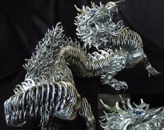 This Dragon is made out of soda pop tabs!