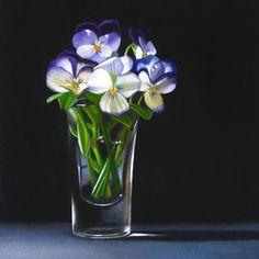 """""""Violets 4x4"""" - Original Fine Art for Sale - © M Collier"""