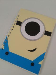 Minion notebook scrapbook A5 - The Supermums Craft Fair