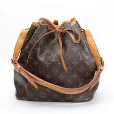 Louis Vuitton Petit Noe Monogram Shoulder bags Brown Canvas M42226