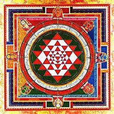 Color Sri yantra with yoginis. Sri Yantra, Yantra Yoga, Mandala Art, Mandala Design, Mandala Meditation, Indian Gods, Indian Art, Mantra, Earth Sun And Moon