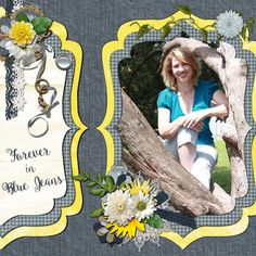 Layout created using the new kit Blue Jean Day Dreams from #AmandaCreation
