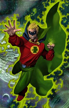 Chris Stevens Alan Scott Green Lantern Comic Art