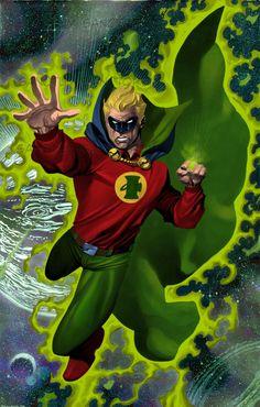 Chris Stevens Alan Scott Green Lantern Comic Art