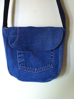 Tutorial for bag made from jean pockets.