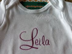Custom Name Onesie Preemie baby Newborn 0 3 6 9 12 18 mo 2-3-4-5T T-Shirts Boy Girl White Personalized on Front Monogrammed Embroidered Gif by NYLAKELLEYDESIGNS on Etsy
