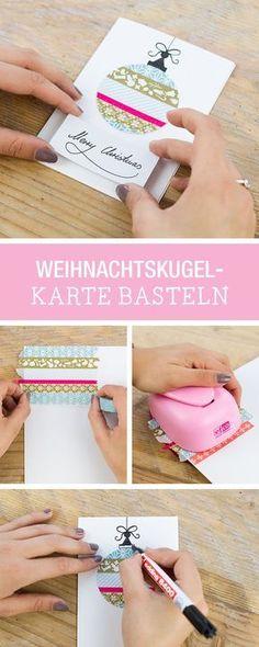Inspiration für eine dekorative Weihnachtskarte: Karten gestalten / inspiration for christmas cards via DaWanda.com
