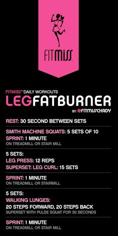 FitMiss Leg Fat Burner Workout