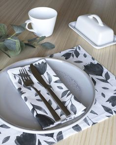 Bloom Eco Friendly Fabric Placemats Set of 4 Olive Green Placemats Floral Cloth Placemats