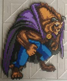Beast - Beauty and the Beast perler beads by TehMorrison